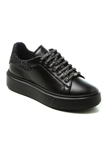 Frau Sim Detay 0AS9W2024874 Kadın Spor Ayakkabı Siyah